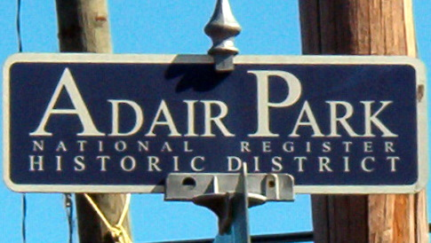 Adair Park Street Sign Topper